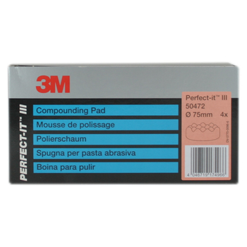 3M Perfect-it III Polierschaum genoppt Extra Life 50472 Ø77mm orange (4 Stk)